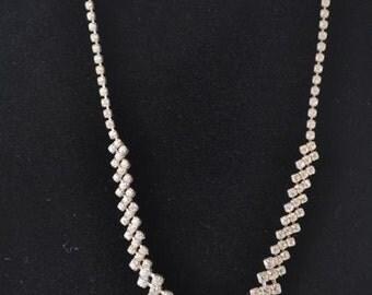 Rhinestone Evening Necklace