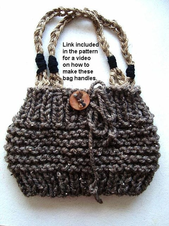 Knitted Purse : BAG knitting pattern - purse -KNITTING PATTERN, not the finished item ...