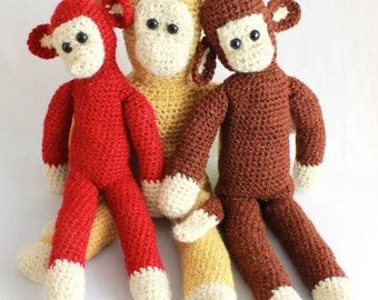 Super Easy Chunky Monkeys Crochet Pattern PDF