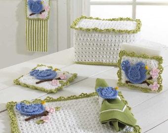 Bluebird Kitchen Set Crochet Pattern PDF
