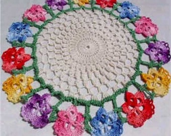 Floral Doilies Set Crochet Pattern PDF