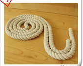 2 yard of 12mm Twisted cotton rope for handbag handle making    L6