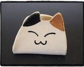 Super Cute Calico Cat Business Card Holder by misunrie