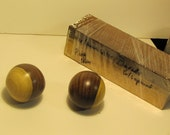 Reserved for asianepiphany, 2 lignum vitae wood spheres and remainder of wood