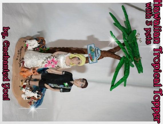 Hawaiian Hawaii Tropical Wedding Cake Topper by ...