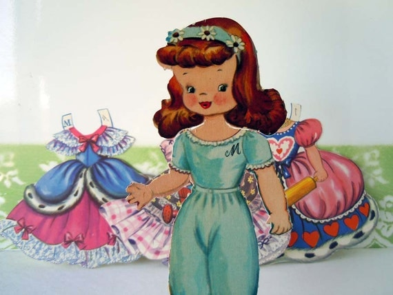 Vintage 1948 Storybook Paper Dolls Queen of Hearts Merrill Company