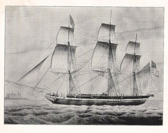 Print of the Sailing Ship St. Peter, Built in 1822