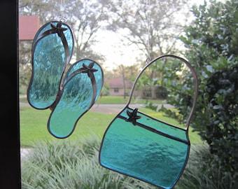 Starfish Flipflops/Purse Suncatchers