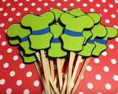 Goofy inspired cupcake toppers