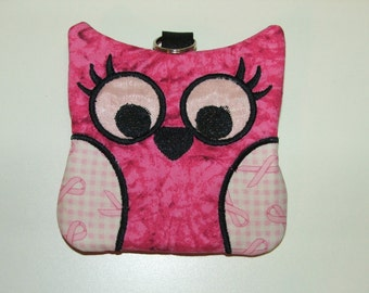 One of a Kind Zippered Owl Case, for cards, cash, coin and more.