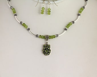 Peridot Necklace Set. Listing 123655030
