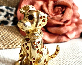 PUPPY French Vintage Gold Puppy Brooch