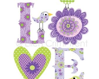 Purple Love Print for girls