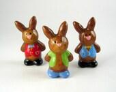 Bunny fridge magnet - boy bunny, handmade kitchen decor, rabbit