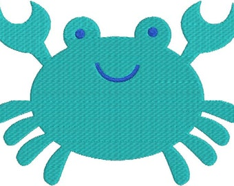 Cute Crab with fill Machine Embroidery Design 4x4 and 5x7 Instant Download