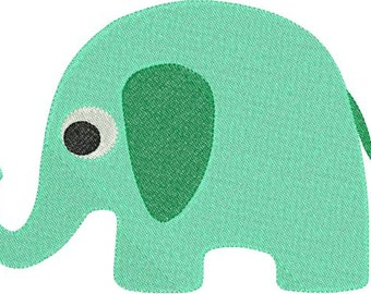 Baby Elephant Machine Embroidery Design 4x4 and 5x7 Instant Download