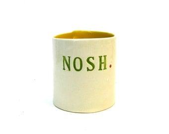 hand built porcelain vessel   ...   nosh
