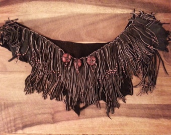 Native American leather shrug (Sale)