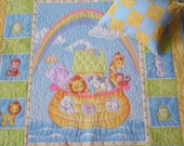 Noahs Ark Baby, Toddler, Girl, Crib Qult, Snuggle Quilt and Pillow