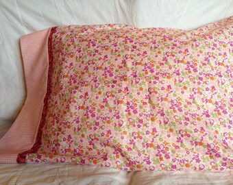 Pillowcase in sherbet colors like a sorbet