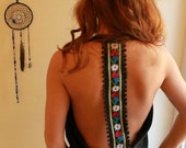 MADE TO ORDER Custom Reconstructed Tshirt Backless Cowl Neck Halter Tank Top By MountainGirlClothing