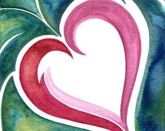 Love is Living - 16in by 20in Print of Original Watercolor Painting.
