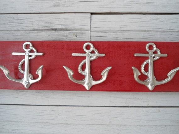 Anchor Towel Rack Hooks Storage Bathroom Towel Holder Nautical