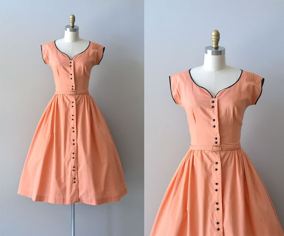r e s e r v e d vintage 40s dress cotton 1940s dress