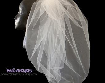Bridal Veil, Blossom Veil, Waist Veil, Elbow Veil, Full Veil, Bouffant Veil, Poufy Veil, Made-to-Order Veil, Bespoke Veil