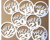Project Life Circular Numeric Week Tags : Weeks 17 thru 24