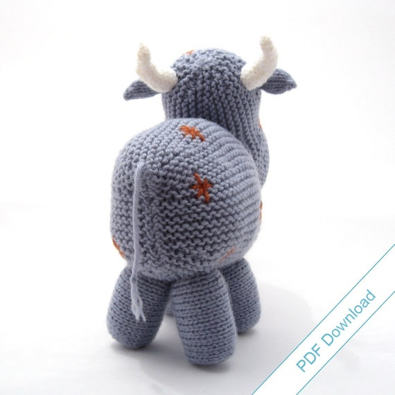 Knitting Pattern PDF Toy Cow. Knit Your Own Herd. from NattyKnits on Etsy Studio