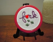 "Hand Embroidered ""F-ck"" Mini Wall Hanging"