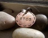 Bats Pet tag, super hero pet tag, Hero pet tag, Personalized pet tag, custom pet tag, hand made pet tag, copper pet tag, Bat pet tag