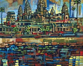 Angkor Wat, Cambodia 5x7 Art Print by Anastasia Mak