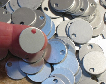 "Stamping Blanks, Grey Frost Toned Discs, 11/16"" Anodized Aluminum, 21 Gauge Round Velvety Matte Silver"
