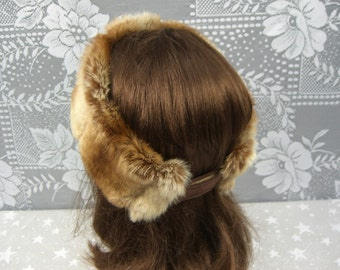 Women's Faux Fur HEADBAND, Fur Headwrap, Ear Warmer, Head Warmer, Chinchilla Fur Headband