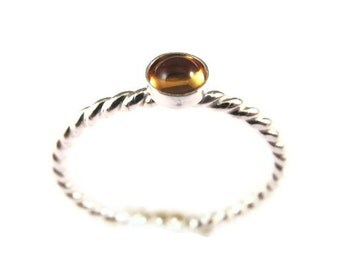 Gemstone Ring, Sterling Silver Birthstone Ring, Mothers Ring, Stacking Ring, Custom Ring