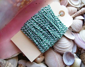 Bakers Twine-25 yards-Green and White