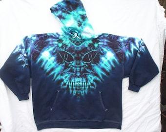 Midnight Monster Tie Dye Hoodie Size XL