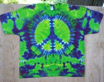 4X Peace Sign Tie Dye
