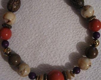 Vintage Necklace -  Rich Autumn  Colors