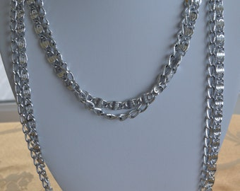 Pretty Vintage Silver Chain Mulii-strand Necklace, Sarah Coventry