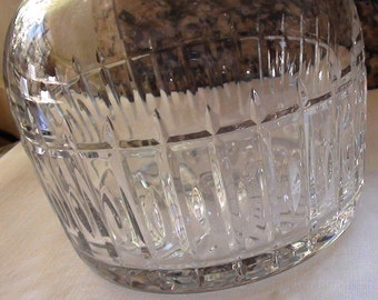 Fancy Detail Decanter Heavy Blown Lead Glass  c1970 or Carafe Wine Fine Heavy Glass  On SaLe Now
