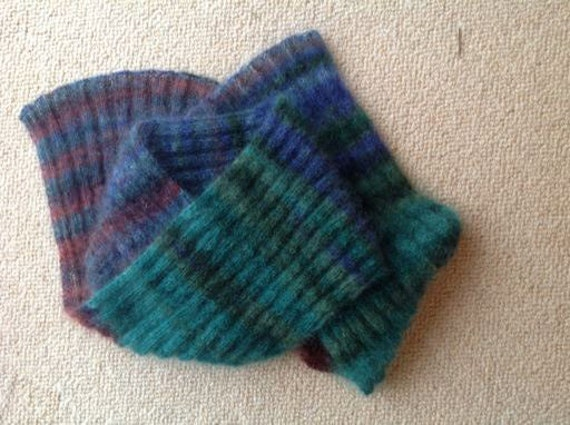 Exquisite Hand Knit Kidsilk Mohair Scarf  - FREE SHPPING WORLDWIDE