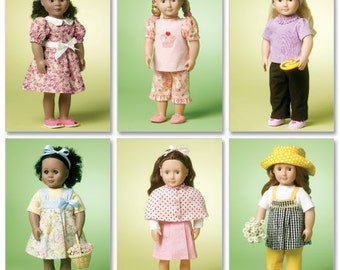 DOLL CLOTHES PATTERN For American Girl Dolls / Great Outfits for Jule - Saige - McKenna
