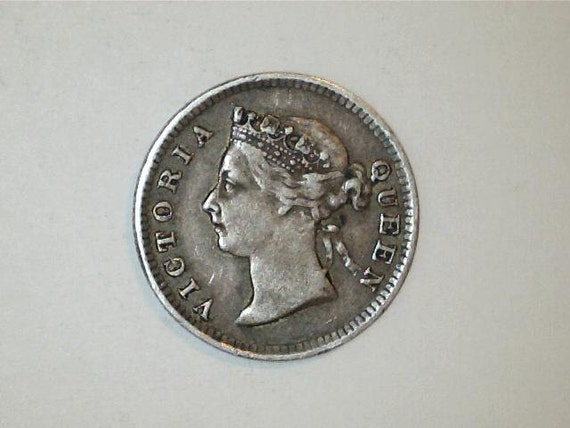 Hong Kong / Queen Victoria  / 1897 5 Cents  /  Very Old Coin / Nice Detail