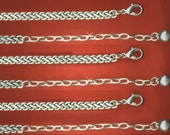Vintage 3 Antique Silver Plated Ornate Link with Lobster Claw Clasp Necklaces AR3