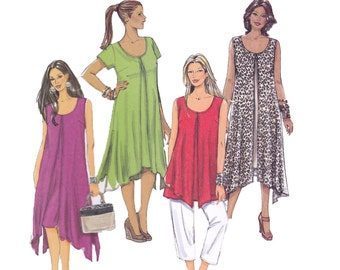 Womens Separates Sewing Pattern - Butterick 5655 - Uncut, Factory Folds - Top, Dress, Pants Pattern
