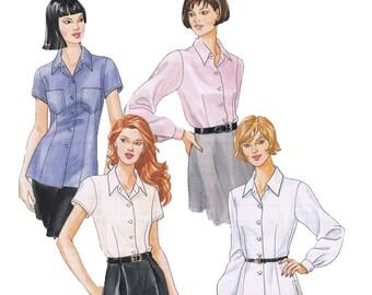Misses Blouse Sewing Pattern - Womens Shirt Sewing Pattern - McCalls 7998 - Uncut, Factory Folds