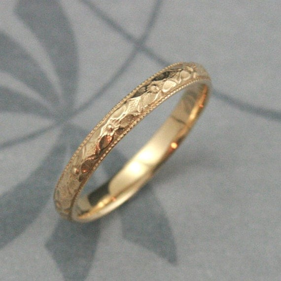 Orange Blossom Ring14k Gold Renaissance Bandwomen S